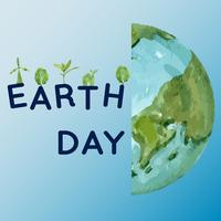 Opwarming van de aarde en vervuiling. Sociale media reclamecampagne, sparen het ontwerp van het wereldmalplaatje, het creatieve ontwerp van de waterverf vectorillustratie vector