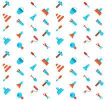 Het construeren en bouwen van pictogrammen naadloos patroon