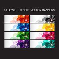 Bloemen geplaatste banners