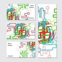 Wereldwijd visitekaartje vector