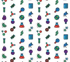 Wetenschap pictogrammen naadloze patroon vector