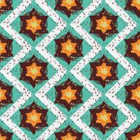 Geometrisch naadloos patroon van Grunge het kleurrijke Halloween vector