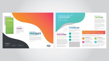 Kleurrijke tweevoudige brochure sjabloon