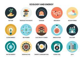 energie pictogrammen instellen voor het bedrijfsleven vector
