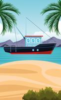 kust landschap cartoon