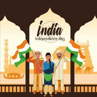 India Onafhankelijkheidsdag kaart