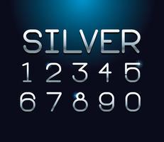 Zilveren lettertype letters alfabet vector