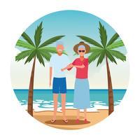 vakantie op het strand vector