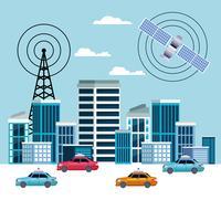 gps locatie auto dienstverleningsconcept