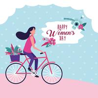 Gelukkige vrouwendag kaart vector