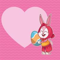vrolijke Pasen-poster vector