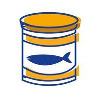 kan tonijnmeel met gezonde voeding vector