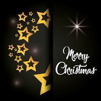 vrolijke kerststerren poster decoratie