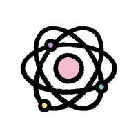 fysica baan atoom scheikunde onderwijs vector