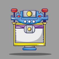 computer en drone technologie patches ontwerp