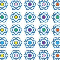 natuurkunde baan atoom scheikunde onderwijs achtergrond vector