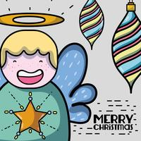 vrolijk kerstdecoratieontwerp tot viering vector