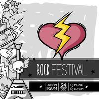 rock festival evenement muziekconcert vector