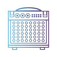 lijn elektronische audioconsole om muziekuitvoerder te spelen vector