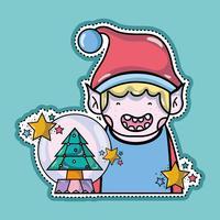 vrolijk kerstdecoratieontwerp tot viering