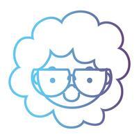lijn avatar jongenshoofd met kapselontwerp vector