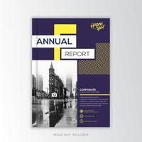Actief Jaarverslag Zakelijk, creatief ontwerp vector