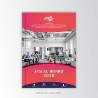 Zoete kleur Jaarverslag Zakelijk, creatief ontwerp vector