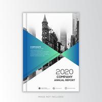 Blauw Jaarverslag Zakelijk, creatief ontwerp vector