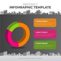 Huis Infographic met grafiek en bewerkbare banner vectorillustratie