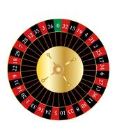Casino roulettewiel vector
