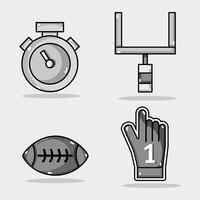 zet amercan voetbal elementen op competitie vector