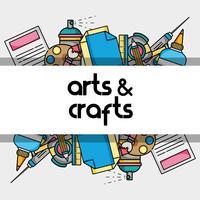 kunst en ambacht creatief objectontwerp vector