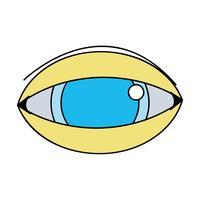 menselijk oog naar optische visie pictogram