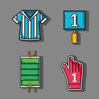 zet amercan voetbal elementen op competitie
