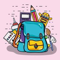 ontwerp van schoolgereedschap om te studeren en te leren