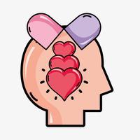 psychologie analyse therapie inspiratie ontwerp vector
