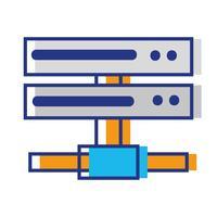 datanetwerk swich uplinkstam vector