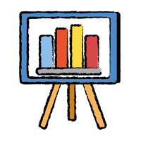strategie presentatie met statistieken grafische balk