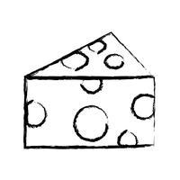 figuur heerlijke en verse kaas voedsel voeding vector
