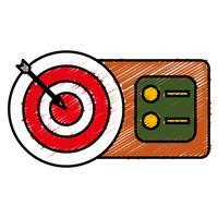 pijl en boog pictogram vector