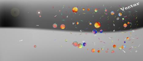 Creatieve abstracte ultra brede ruimteachtergrond vector