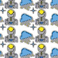 data technologie patches sticker achtergrondontwerp