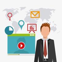 Digitale en sociale marketing vector