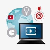 Digitale en sociale marketingstrategieën vector