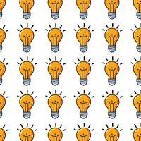 gloeilamp idee om intelligent en creatief vector