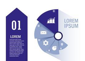 Geïsoleerde workflow en infographic ontwerp