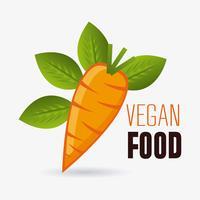 Veganistisch eten ontwerp.