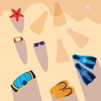 Hallo zomer- en vakantieontwerp vector