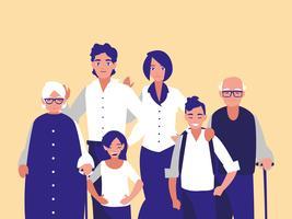familieleden karakters vector