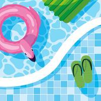 Zomer flamingo float ontwerp vector illustratio